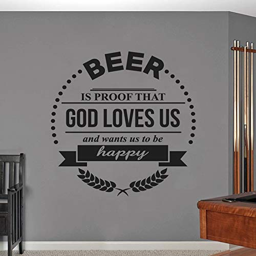 N.SunForet Beer is Proof That God Loves Us Vinyl Wall Decal Home Decor ()