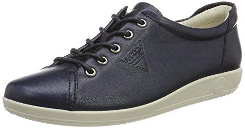 Ecco Soft 2.0, Zapatos de Cordones Derby para Mujer Blau (1038MARINE)