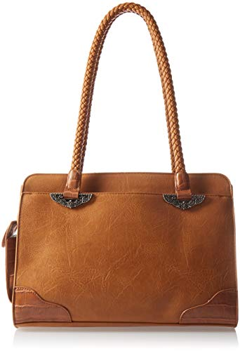 - Bueno of California Mixed Media Satchel, sp Camel/tan