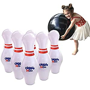 GIGGLE N GO Kids Bowling Set Indoor Games or Outdoor Games for Kids. Hilariously Fun Giant Yard Games for Kids and…