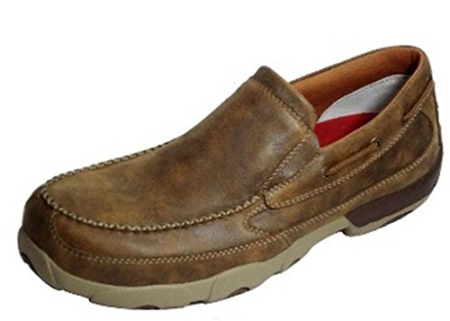 Twisted X Mens Bomber Slip-on Driving Mocs 9.5
