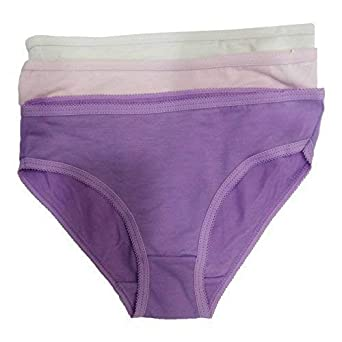 a7d5aeb4548f26 12 Pack Girls Knickers Kids Underwear Plain Cotton Briefs Pants Childrens  Shorts Size 3-12 Years New: Amazon.co.uk: Clothing