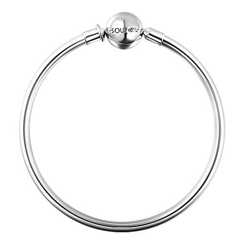 Clasp Bracelets Exclusive 925 Sterling Silver Bracelets Basic Charm Bracelet Jewelry Chain Simple Bracelets for Women Men Girls Baby (7.5inch/ 19cm)