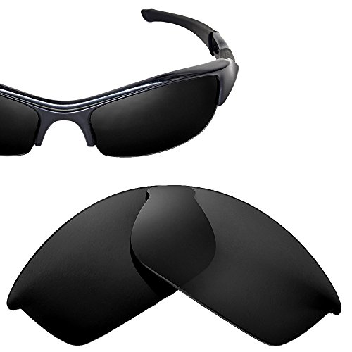 Transitions Flak Jacket (Cofery Replacement Lenses for Oakley Flak Jacket Sunglasses - Multiple Options Available (Black - Non Polarized))