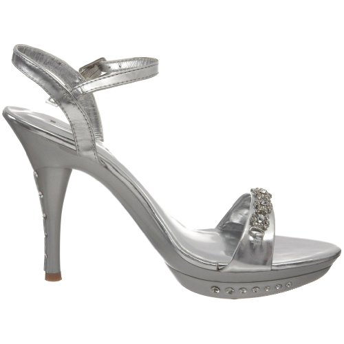 Lava Womens Notice Ankle-Strap Sandal Silver pYWm733A5