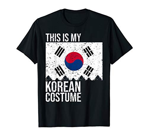 This is my South Korean Flag Costume Shirt For Halloween -