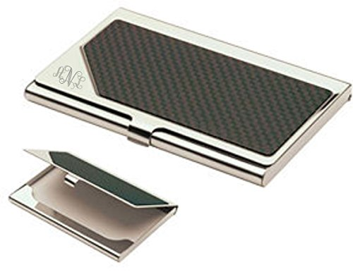 Personalized Carbon Fiber Business Card Case Holder Custom Engraved Free ()