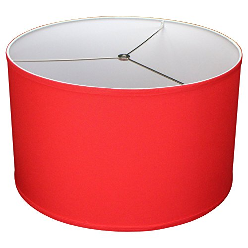 FenchelShades.com 18'' Top Diameter x 18'' Bottom Diameter 11'' Height Cylinder Drum Lampshade USA Made (Poppy) by FenchelShades.com