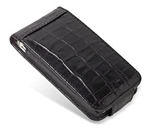 Piel Frama 524 Black Crocodile Leather Case with Snap Closure for Apple iPhone 4 / 4S (japan import)
