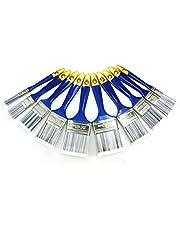 Lackierpinsel-Set 10-teilig | Flachpinsel für Lasur, Acrylfarben und Wasserlacke| 10 Stück Lasurpinsel | Pinselset