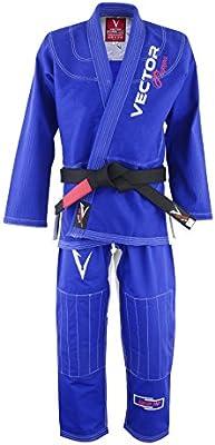 Vector Sports Cintur/ón de Artes Marciales Jiu-Jitsu brasile/ño o BJJ para ni/ños 100/% algod/ón