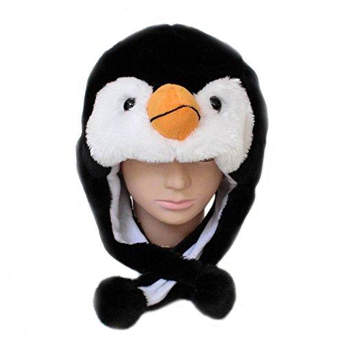 TopTie Halloween Animal Cosplay Hat With Ear Flap, Furry Animal Hood Cap-penguin ()