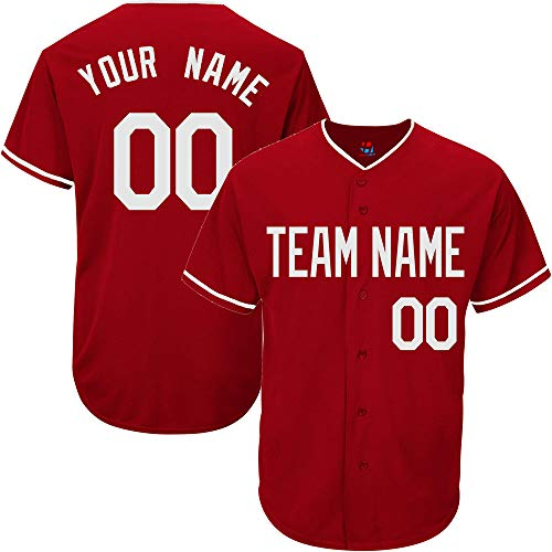 (Scarlet Customized Baseball Jersey for Women Button Down Embroidered Your Name & Numbers,White Size XL)