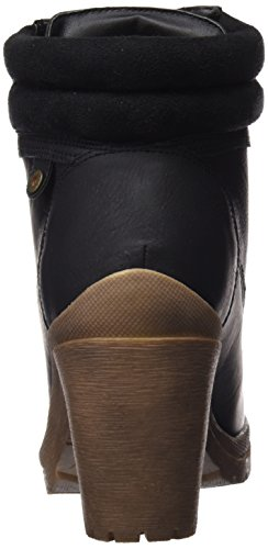 Refresh Botin Sra. C. Combinado Negro, Zapatos de Cordones Derby para Mujer NEGRO