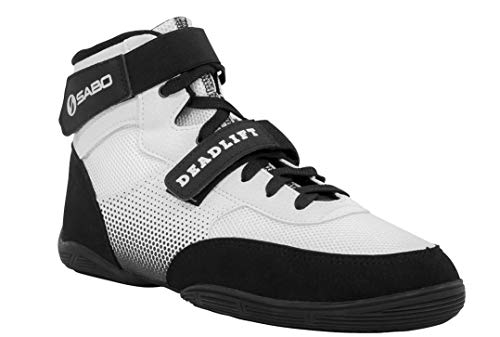 Sabo Deadlift Shoes (44 RUS / 11-11.5 US, White) (Best Shoes To Deadlift In)