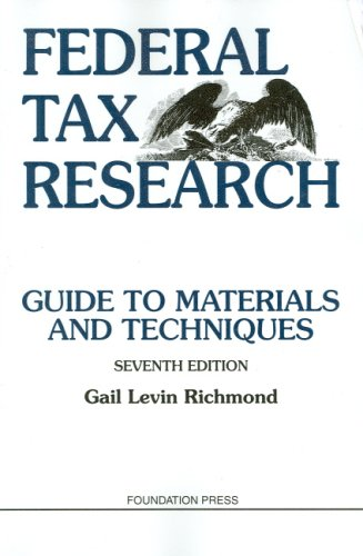 Federal Tax Research (University Textbook Series)