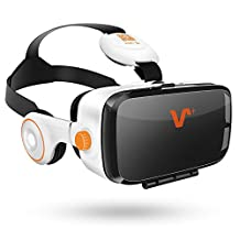VR Headset,Virtual Reality Headset,3D VR Glasses Compatible with Iphone/Samsung/HTC/LG/Sony with Retail Package,Get Excited,Get VOX VR (BE)