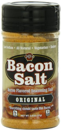 J&D's Bacon Salt, Original, 2 Ounce (Flavored Bacon Salt)
