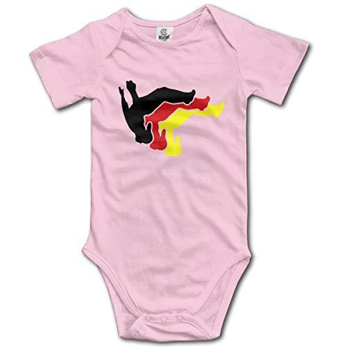 sport outdoor 003 Parkour Man Baby Short-Sleeve Onesies Baby Boys Girls Pink ()