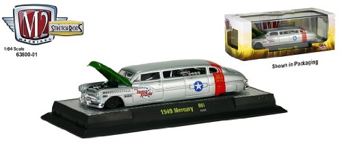 1949 Mercury * M2 Machines Auto-Stretch Rods * 2013 Castline 1:64 Scale Die-Cast Vehicle & Display Case