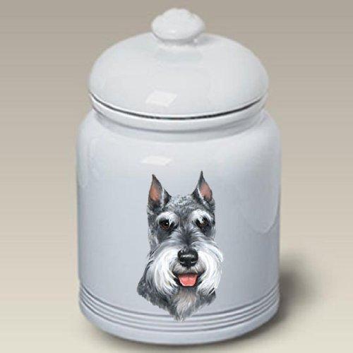 Schnauzer Cropped Dog - Linda Picken Treat Jar