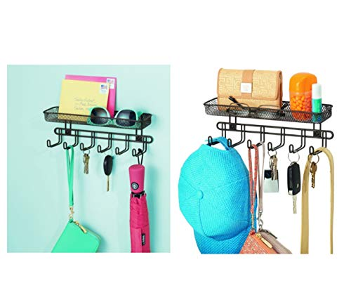 iDesign Classico Wall Mount Entryway Organizer for Keys, Hats, Wallets, Clutch Purses, Cell Phones, Sunglasses - 11