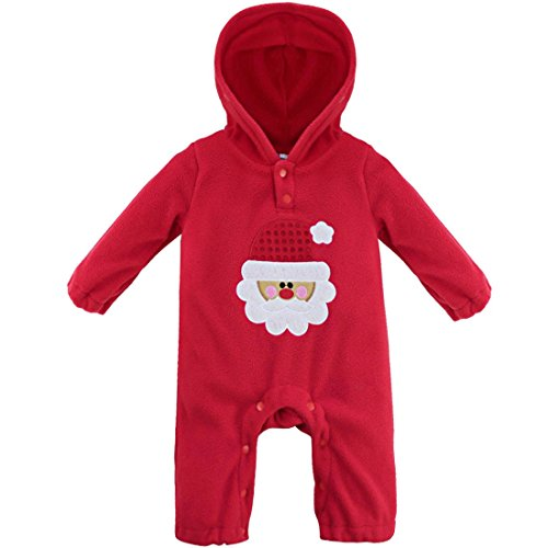 FEESHOW Baby Boys Reindeer / Santa Christmas Hooded Romper Outfits Costumes Red Santa 6-9 Months (Baby Santa Outfit For Boy)