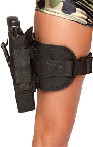 Sexy Police Girl Gun Leg Holster Halloween (Thigh Gun Holster Costumes)