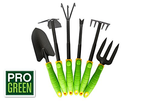 Pro green 6 piece garden tool set your pretty garden for Pretty garden tools set