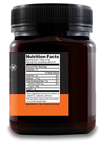 Wedderspoon Raw Premium Manuka Honey KFactor 16, Unpasteurized, Genuine New Zealand Honey, Multi-Functional, Non-GMO Superfood, 35.2 Ounce by Wedderspoon (Image #3)