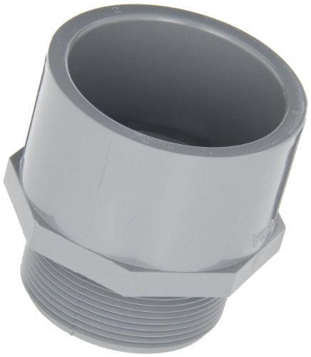 """GF Piping Systems CPVC Pipe Fitting, Adapter, Schedule 80, Gray, 2"""" NPT Male x Slip Socket from GF Piping Systems"""