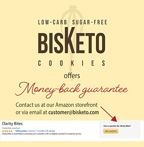 Low Carb Cookies BisKeto - Keto Snacks, Low Net Carbs, No Sugar, Gluten & Grain Free - Box with 6 Packs,12 Cookies (Variety Joy) - Ketogenic Diet Friendly & Healthy Snack Food 7