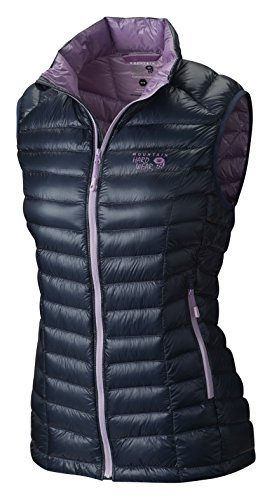 Mountain Hardwear Lightweight Vest - Mountain Hardwear Ghost Whisperer Down Vest - Women's Zinc/Phantom Purple Large