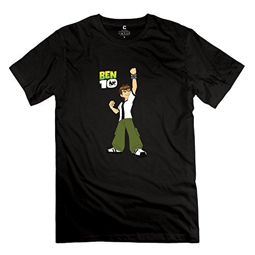 Men BEN10 Custom Retro Black T-Shirt By Mjensen