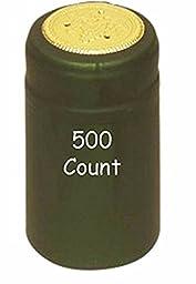 Metallic Green PVC Shrink Capsules-500 Count