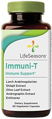Life Seasons – Immuni-T – Immune System Booster Supplement – Defend Against Cold and Flu – Stimulate Production of White Blood Cells – Rapid Immune Response – Andrographis – Echinacea – 90 Capsules