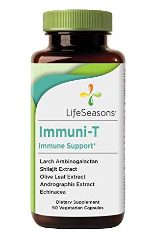 Life Seasons - Immuni-T - Immune System Booster Supplement - Defend Against Cold and Flu - Stimulate Production of White Blood Cells - Rapid Immune Response - Andrographis - Echinacea - (90 Capsules)