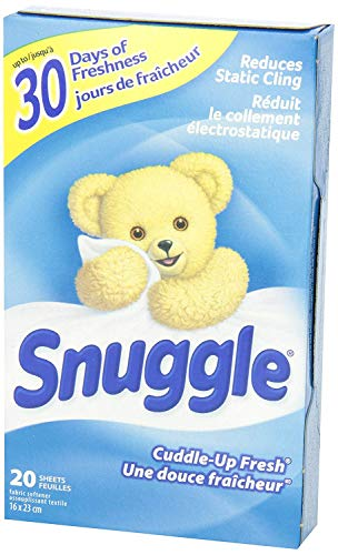 Snuggle Fabric Softner Dryer Sheets, Cuddle Up Fresh Scent, Reduces Static Cling - 480 Count by Snuggle (Image #5)