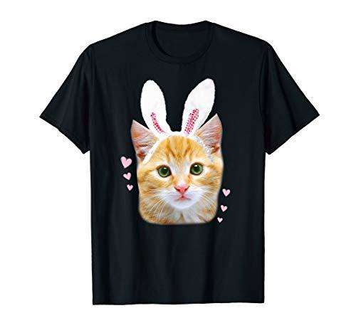 Cat Rabbit Shirt White Furry Bunny Ear Cat Lover Shirt ()