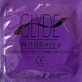 GLYDE Premium Flavored Condom - Standard Fit Organic Wildberry - 100 Ct. Value Pack | Australia's #1 Choice for Natural & Vegan Condoms
