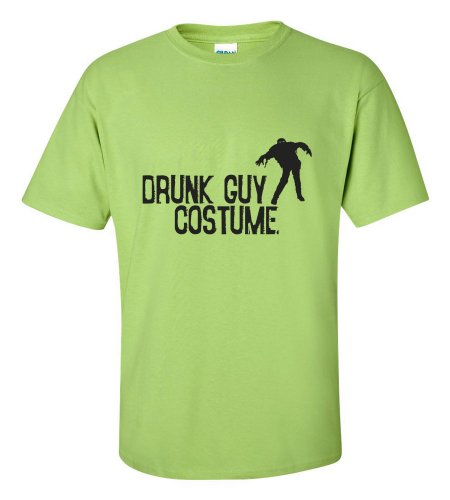 Green Man Costume Walmart (Halloween Drunk Guy Costume T-shirt Funny Scary-lime-XL)