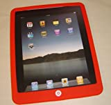 Apple iPad Bright Red Premium Soft Silicone SwitchEasy Style Tablet Cover, 9 Different Colors Available