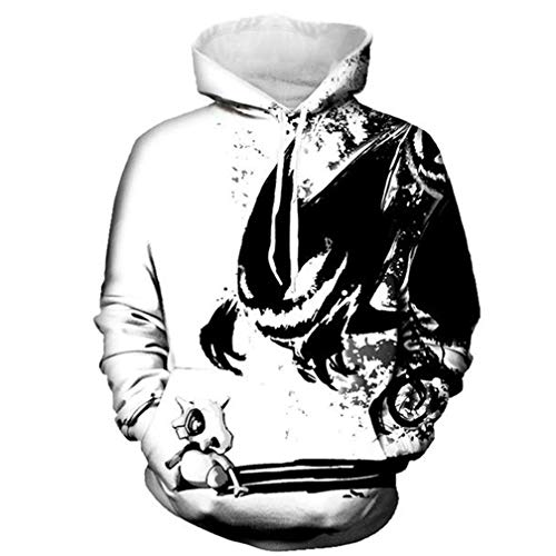 Fashion Sweatshirts 3D Hoodies Print Ink Devil Sweatshirt Men Casual -