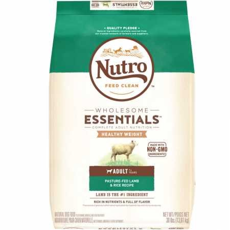 Nutro Wholesome Essentials Healthy Weight Pasturefed Lamb Rice Adult Dog (30 Lb)