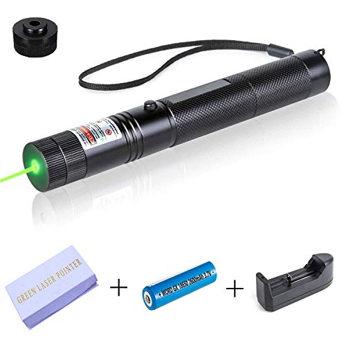 Hench Tactical Green Hunting Rifle Scope Sight Laser Pen Demo Remote Pen Pointer Projector Travel Outdoor Flashlight LED Interactive Baton Funny Laser Toy