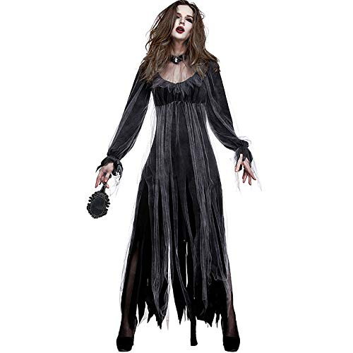 Halloween Costume for Women Novelty Zombie Bridal Role Plays Ghost Gal Apparel ()