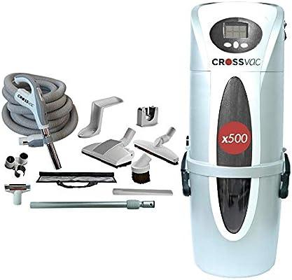Crossvac x500 - Aspiradora central con manguera (12 m, incluye regulación electrónica de potencia de succión): Amazon.es: Hogar