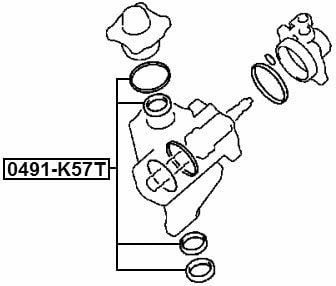 Seal Kit P//S Gear Fits MITSUBISHI PAJERO II V14W-V55W 1991-2004