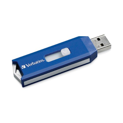 (Verbatim 64GB Store 'n' Go PRO USB 2.0 Flash Drive with Encryption, Blue 97449)