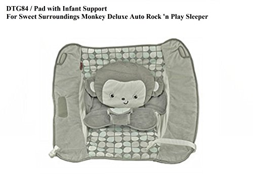 Replacement Pad for Fisher Price Deluxe Auto ROCK N PLAY SLEEPER SWEET SURROUND MONKEY (Model DTG84)